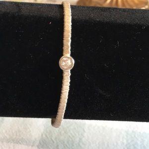 NWOB Silpada silver wrapped bracelet w/crystal